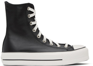 Converse Black All Star Extra High Platform Sneakers