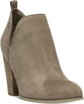 Carlos by Carlos Santana Rouen Cut-Out Block-Heel Booties