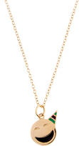 Alison Lou Enamel & yellow-gold Party On Face necklace