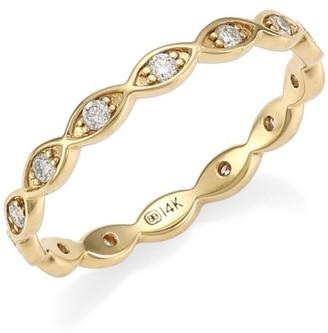 Sydney Evan Marquis Eye 14K Yellow Gold & Diamond Ring