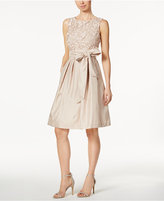 Jessica Howard Embroidered Sash Fit & Flare Dress