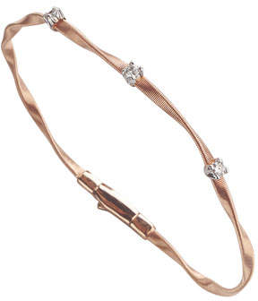 Marco Bicego Marrakech Twisted 18K Rose Gold Bracelet with Diamonds