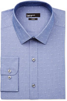 Bar III Men's Slim-Fit Chambray Geo-Pattern Dobby Dress Shirt, Only at Macy's