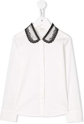 MonnaLisa lace trim blouse