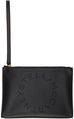 Stella McCartney Black Alter Nappa Logo Pouch