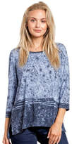Katina Marie Contrast Floral Tunic