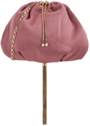 Rosantica Fatale dusky pink satin cross-body bag
