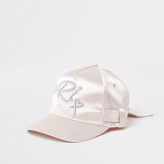 River Island Girls Pink satin belted cap