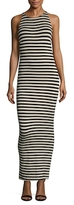 Torn By Ronny Kobo Striped Jersey Sheath Dress