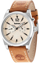 Timberland Men's Campton Brown Leather Strap Watch 46x53mm TBL14642JS07
