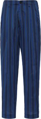 Haider Ackermann High-Rise Cotton-Silk Pants