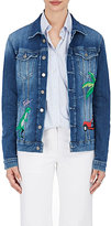 Mira Mikati Women's Rainforest-Embroidered Denim Jacket