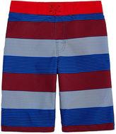 Arizona Boys Stripe Swim Trunks-Big Kid