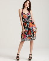 Quotation: Johnny Was Collection Silk Floral Printed Dress