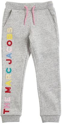 Little Marc Jacobs Patch Logo Cotton Sweatpants