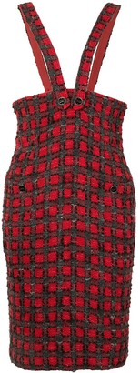Chanel Pre Owned 2007 Tweed Overall Skirt