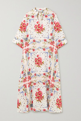 Paul & Joe Valdaoste Floral-print Linen Midi Dress - White