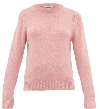 Queene and Belle Tushingham Crown Embroidered Cashmere Sweater - Womens - Pink