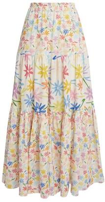 Mira Mikati Floral Tiered Maxi Skirt