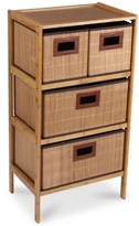Household Essentials Bamboo 4-Drawer Storage Chest