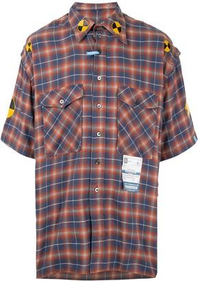 Maison Mihara Yasuhiro Check-Print Short-Sleeved Shirt