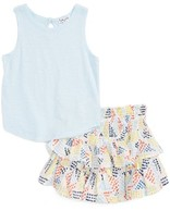 Splendid Girl's Tank & Geo Dot Print Skirt Set