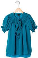 Little Marc Jacobs Girls' Silk Short Sleeve Top