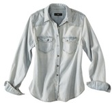 Mb Mossimo® Women's Long Sleeve Denim Shirt - Light Denim