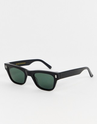 Monokel Eyewear Aki square sunglasses in black