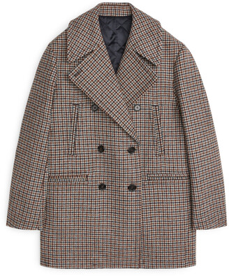 Arket Tweed Pea Coat