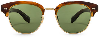 Oliver Peoples Cary Grant 2 Sunglasses in Tortoise & Jade | FWRD