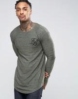SikSilk Long Sleeve Waffle T-Shirt