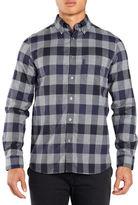 Aquascutum Marcus Large Scale Long Sleeve Shirt