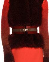 Agnona Two-Tone Calf Hair Fur Belt