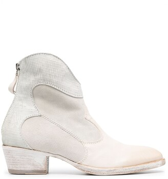 Moma Cowboy-Style Ankle Boots