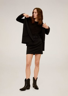 MANGO Pinstripe skirt
