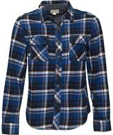 Converse Mens Heavy Flannel Checked Long Sleeve Shirt Midnight Lake