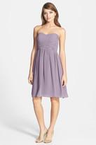 Donna Morgan Sarah Strapless Ruched Chiffon Dress