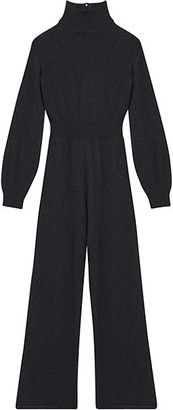 Theory Wool & Cashmere Turtleneck Jumpsuit