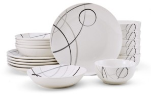 Pfaltzgraff Studio Nova Circles 18 Piece Dinnerware Set, Service for 6