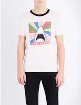 Saint Laurent Shark-print cotton-jersey t-shirt