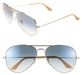 Ray-Ban Women's 'Large Original Aviator' 62Mm Sunglasses - Blue Gradient