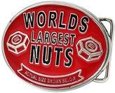 Buckle Rage Adult Mens Worlds Largest Nuts Funny Novelty Belt Buckle Enamel