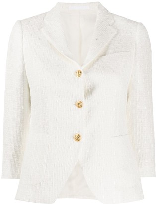 Tagliatore Embroidered Slim-Fit Blazer