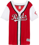 PINK Cincinnati Reds Mesh Button Down Jersey