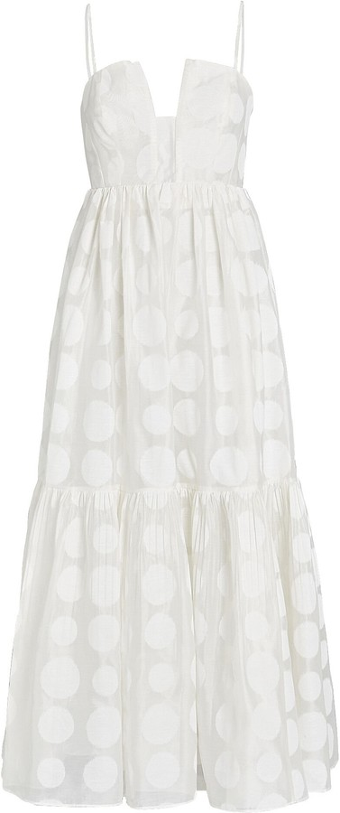 Ulla Johnson Aimie Polka Dot Maxi Dress