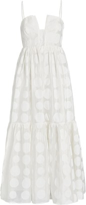 Ulla Johnson Aimie Polka Dot Maxi Dress