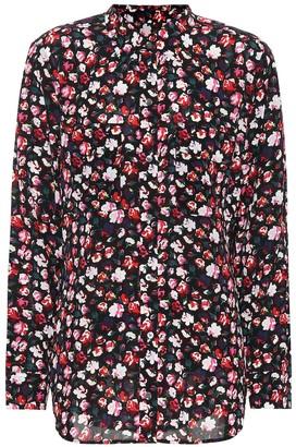 Equipment Floral crepe shirt