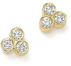 Chicco Zoë 14K Yellow Gold Diamond Trio Stud Earrings