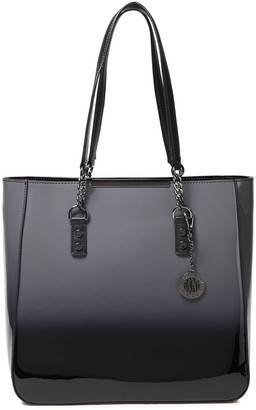DKNY Degrade Glossed-leather Tote